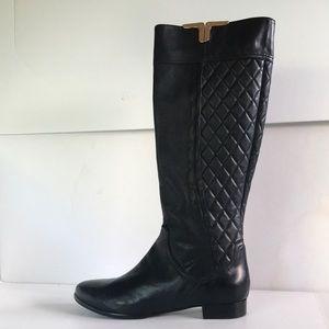 NEW $495 NAPOLEONI Black Leather Tall Boots 10